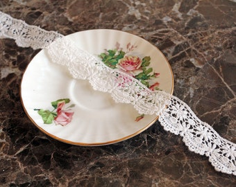 Reneabouquets Trim- Petite Flower Lace, Guipure, Wedding Trim, Sewing, Scrapbook, crafts, embroidered