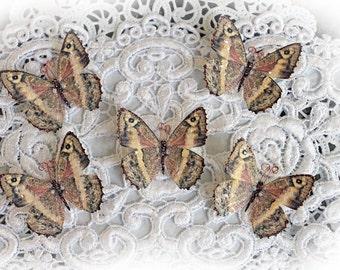 Reneabouquets Tiny Treasures Butterfly Set-  Rose Quartz Glitter Glass Butterflies Scrapbook Embellishment, Home Decor, , Wedding