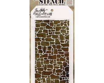 Tim Holtz Layering Stencil - STONE THS086