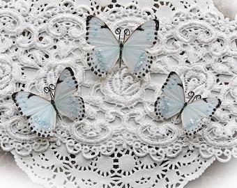 Reneabouquets Original Handcrafted Butterfly Set - Tiny Dancer Premium Paper Glitter Glass Butterflies