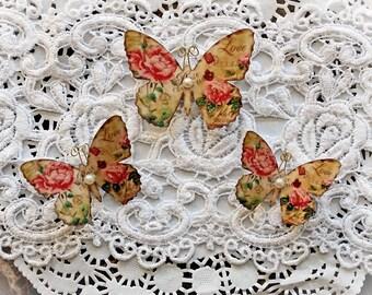 Reneabouquets Butterfly Set Secret Crush Premium Paper Butterflies