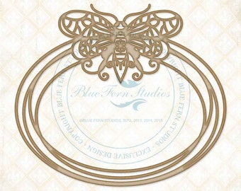 Blue Fern Studios Laser Cut Chipboard Butterfly Rings