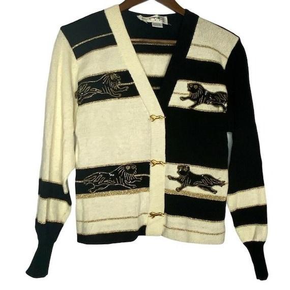 Vintage EPIC Steven Knit Black Panther Sweater