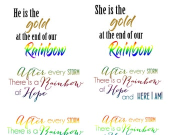 instant of rainbow baby quotes templates on