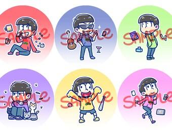 OSOMATSU-SAN Buttons!