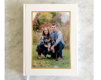 Photo Guest Book - Wedding Guestbook - Custom Design - Reception Book with Pictures - Memory Book - Wedding Keepsake - Wedding Memento