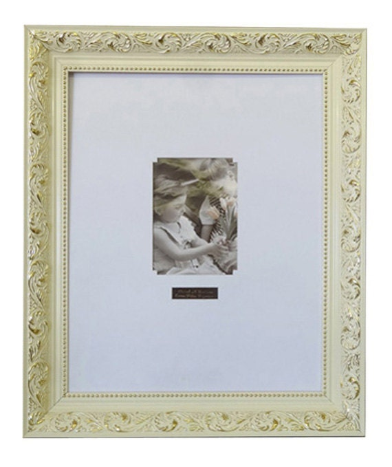 Wedding Signature Frame White with Gold Texture 1217 / White | Etsy