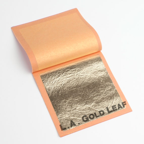 25 Leaves Book of Real 24k Gold Leaf 3-1//8 Square Loose Leaf