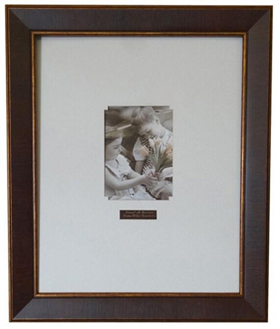 Graduation Signature Wood Tone Gold Frame 403-50 White Mat | Etsy