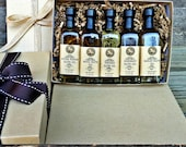 Olive Oil and Balsamic Vinegar Italian Sampler Set - Holiday Gourmet Gift Box - Gourmet Sampler - Olive Oil Sampler