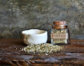 Gourmet Seasoning Blends and Salts Set with handmade Ceramic Pottery Bowl
