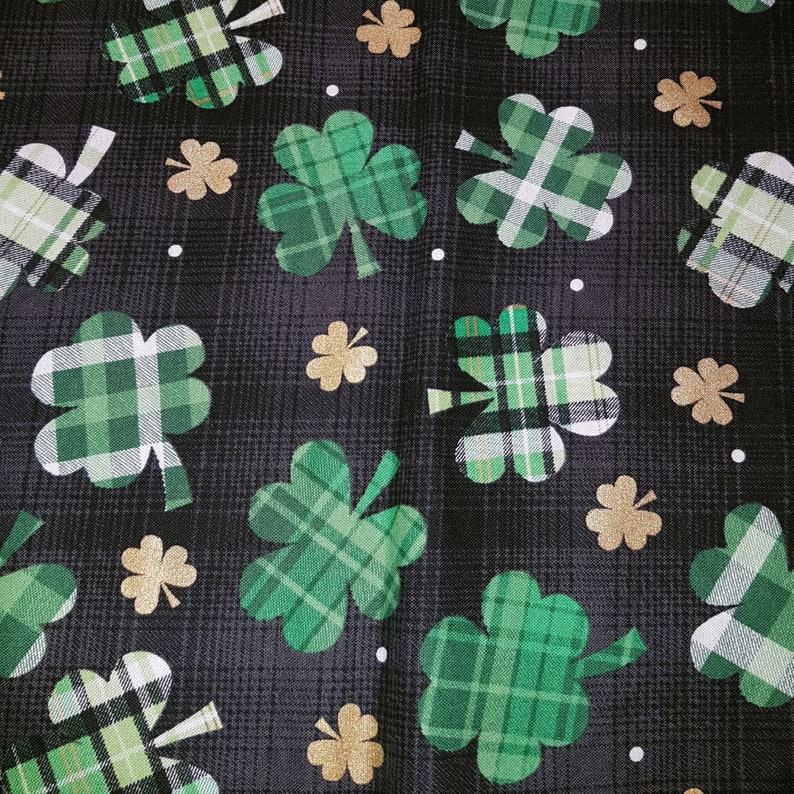 Customized Hand-crafted St. Patrick's Day Dog Bandana image 0