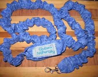 Blue Sparkle Handmade Elastic Stretch/Stretchy Leash