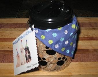 Homemade Treats Dog Gift Basket + Handmade Bandana