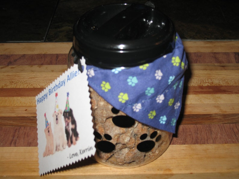Homemade Treats Dog Gift Basket  Handmade Bandana image 0