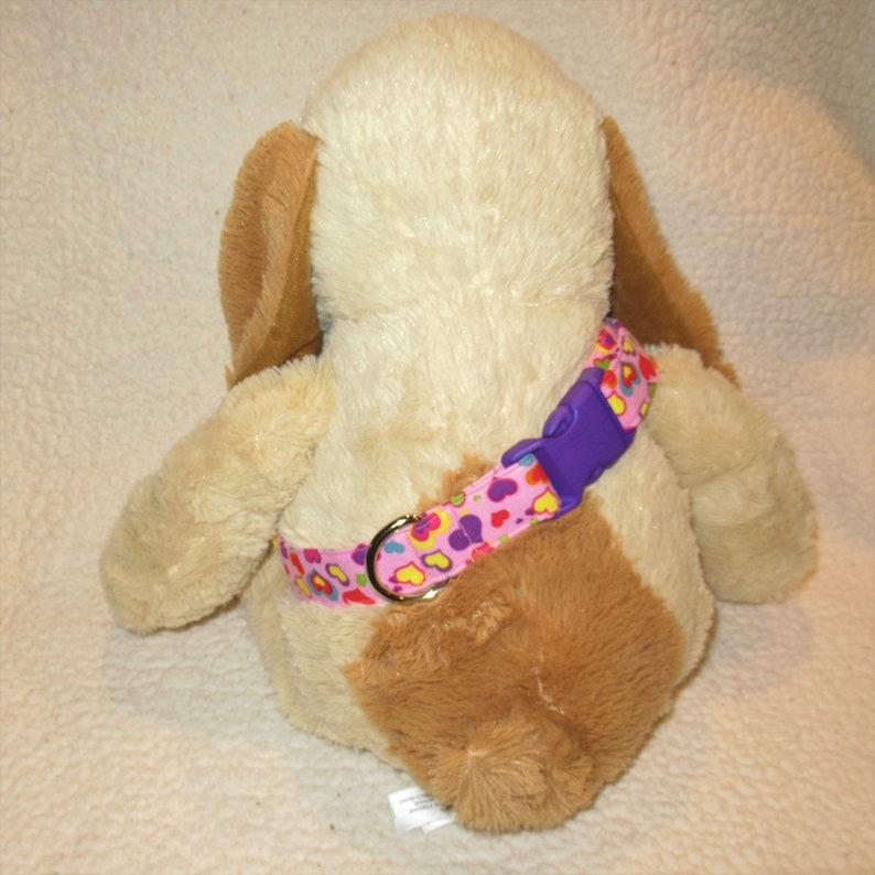 Custom Handmade Extra Large Pink W/ Multi Colored Hearts Dog image 0