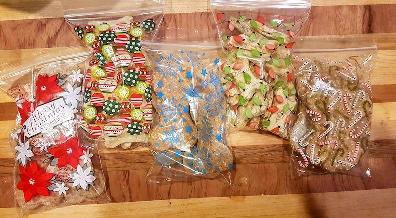 Holiday Dog Treat Multi-Pack. 5 Small Bags of Fresh Baked Dog image 0