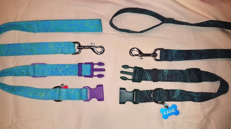 Matching Collar and Leash Set image 0