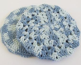 Pot Holders Blue, Hot Pads Crochet, Pot Holders Cotton, Hot Pads Small, Pot Holders 2