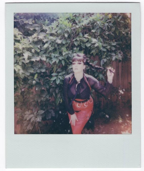"""Original Polaroid Self Portrait """"Latex Fuss"""""""