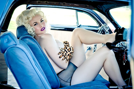 Gia Genevieve Hot Rod Pinup Centerfold