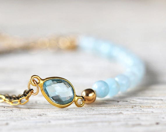 Blue Bridal Bracelet - Something Blue Bracelet