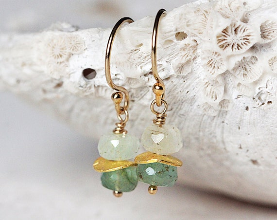 Gold Emerald Earrings - Emerald Drop Earrings