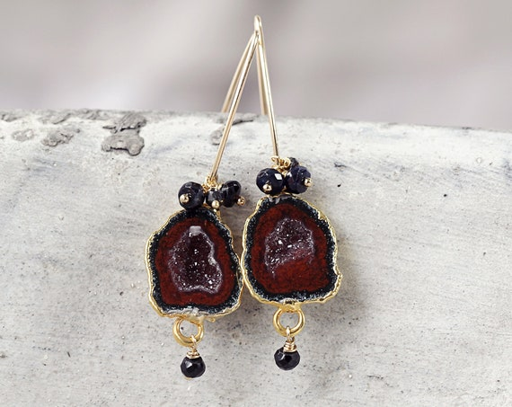 Geode Earrings -  Druzy Party Earrings