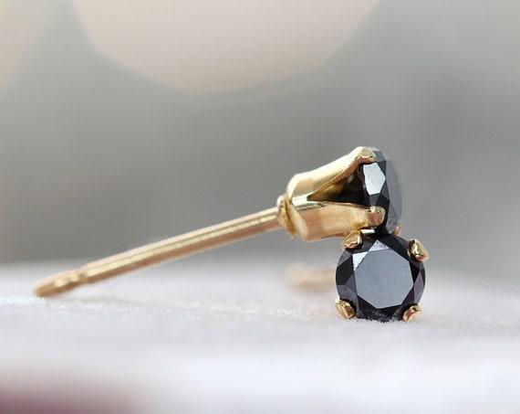 SINGLE Diamond Stud - Single Earring For Men or Women - Unisex Earrings