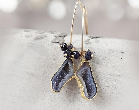 Geode Earrings -  Druzy Party Earrings