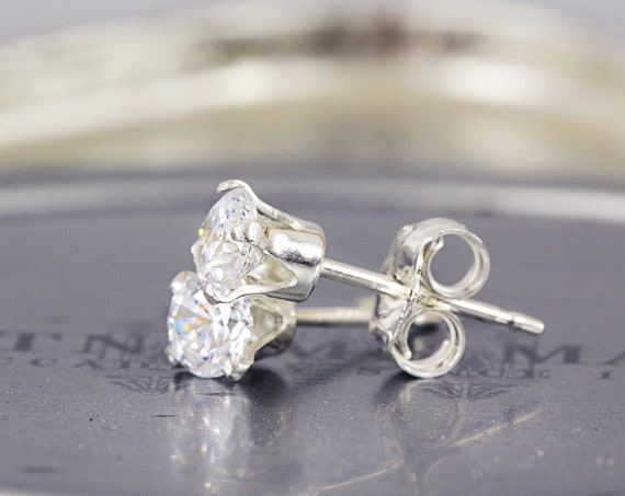 CZ Wedding Studs - Bridal Earrings - Tiny Stud Earrings - Earrings For Bridesmaids - Simple Studs - Sparkly Wedding Earrings