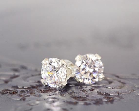 Cubic Zirconia Earrings - Dainty Everyday Studs