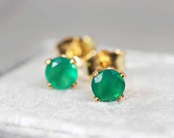 Onyx Earrings - Green Onyx Jewelry
