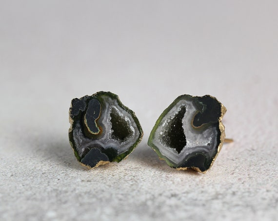 Geode Earrings - Black Geode Earrings