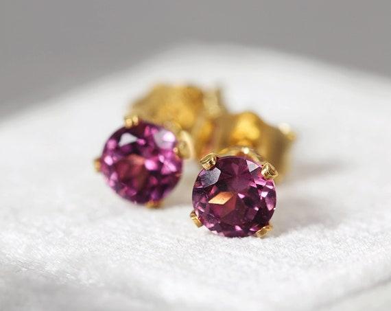Rhodolite Garnet Earrings - Earrings for Love & Inspiration