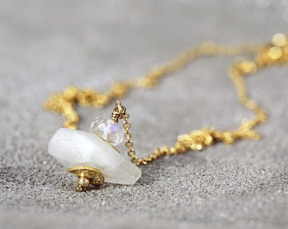 Moonstone Necklace - Bridal Wedding Necklace