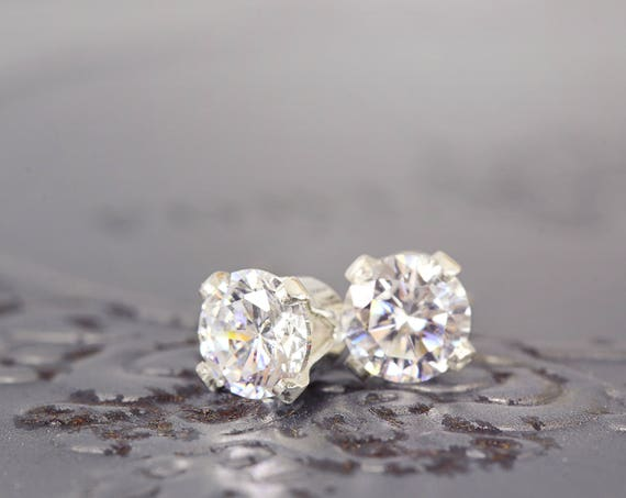 Cubic Zirconia Earrings - Dainty Everyday Studs