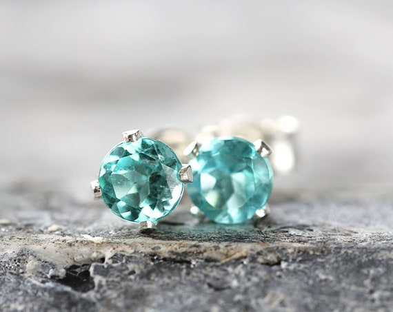 Apatite Stud Earrings - Summer Earrings