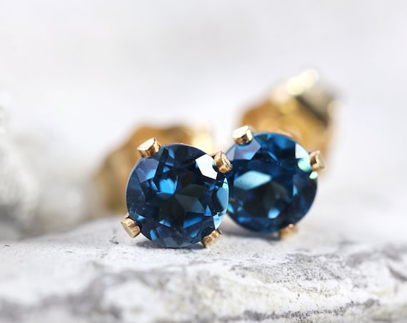 London Blue Topaz Earrings - November Birthstone Earrings