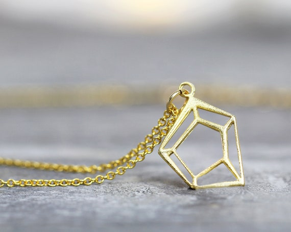 Gold Geometric Necklace - Minimalist Necklace
