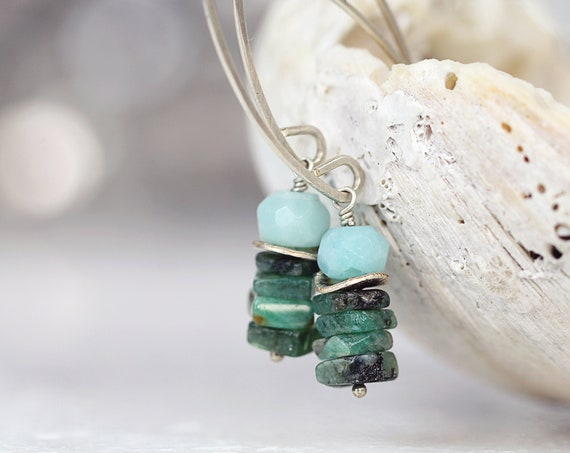 Emerald Earrings - Emerald Stack Earrings
