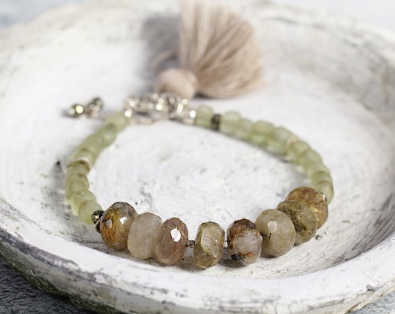 Rutilated Quartz Bracelet - Earthy Boho Bracelet