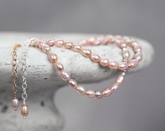 Pink Pearl Bracelet - Freshwater Pearl Bracelet