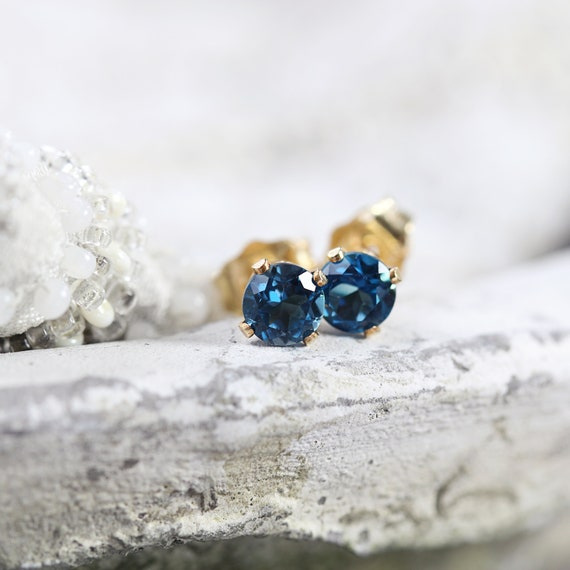 London Blue Topaz Earrings - November Birthstone Earrings