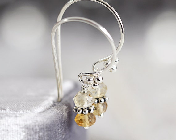 Citrine Earrings - November Birthstone Earrings