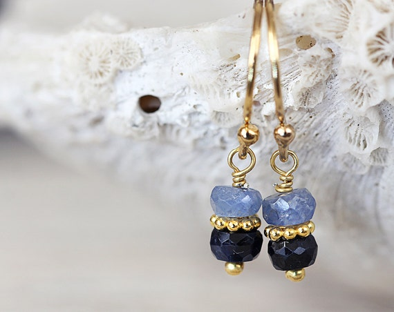 Blue Sapphire Earrings - September Birthstone Earrings