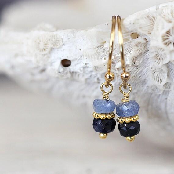 Blue Sapphire Earrings - September Birthstone Earrings