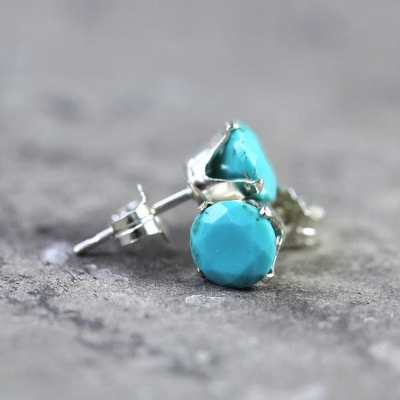 Turquoise Stud Earrings - December Birthstone Earrings