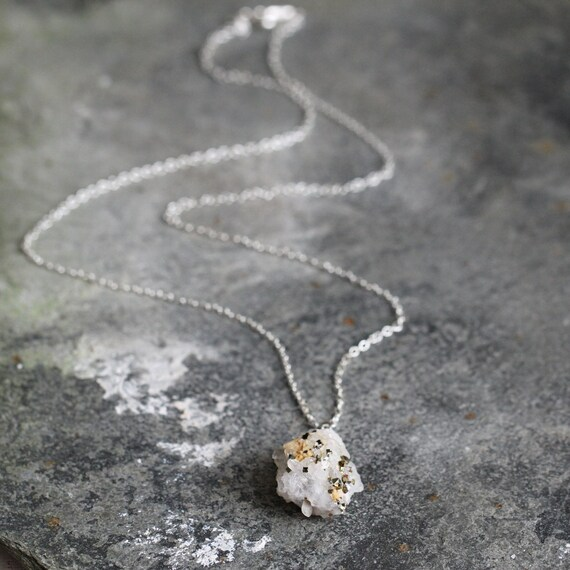 Raw Crystal Necklace - Raw Quartz Necklace