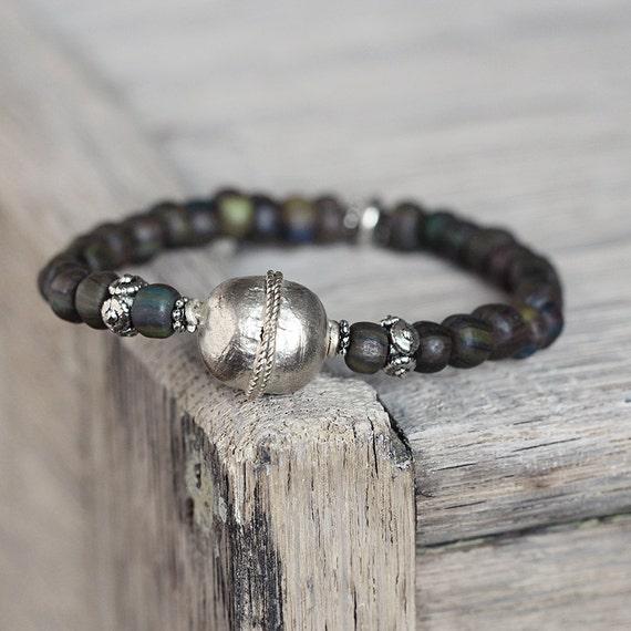 Earthy Bracelet - Rustic Bead Bracelet